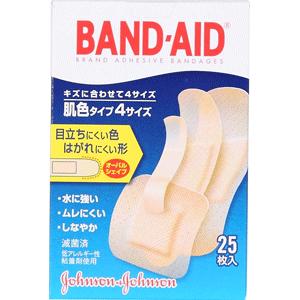 バンドエイド® 肌色タイプ 4サイズ25枚入