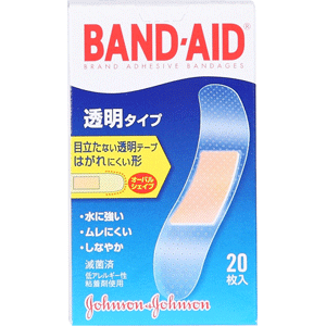 バンドエイド® 透明タイプ  20枚入