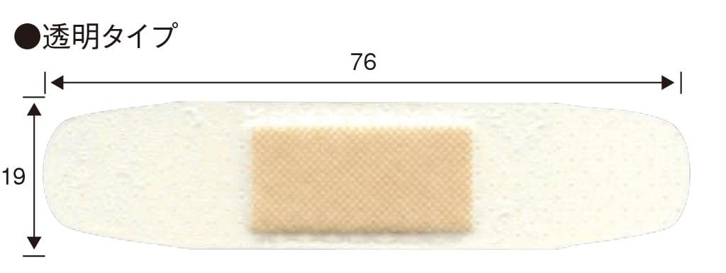 バンドエイド® 透明タイプ  サイズ