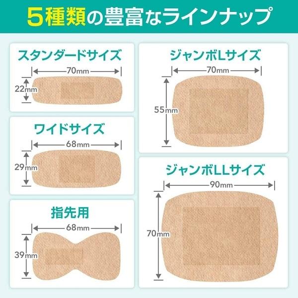 バンドエイド® 快適プラス  5種類のラインナップ