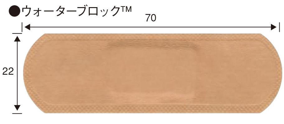 バンドエイド® ウォーターブロック™  サイズ