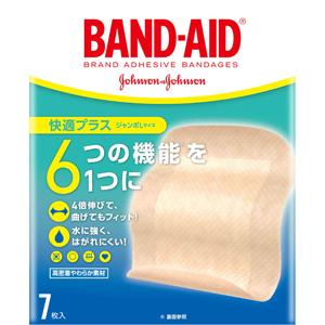 バンドエイド® 快適プラス ジャンボLサイズ 7枚入